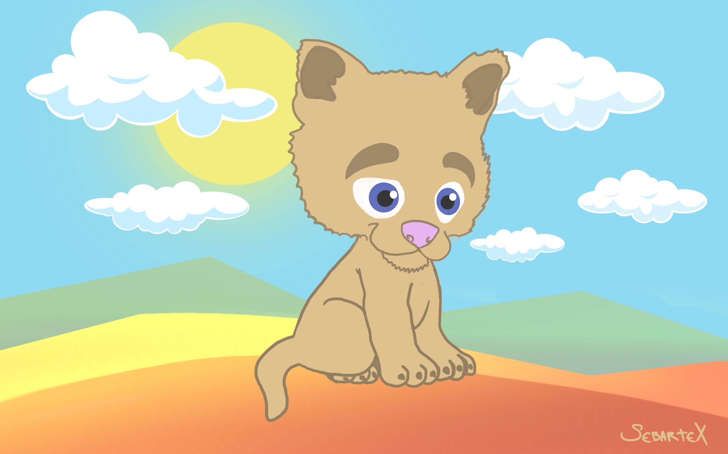 baby lion cartoon