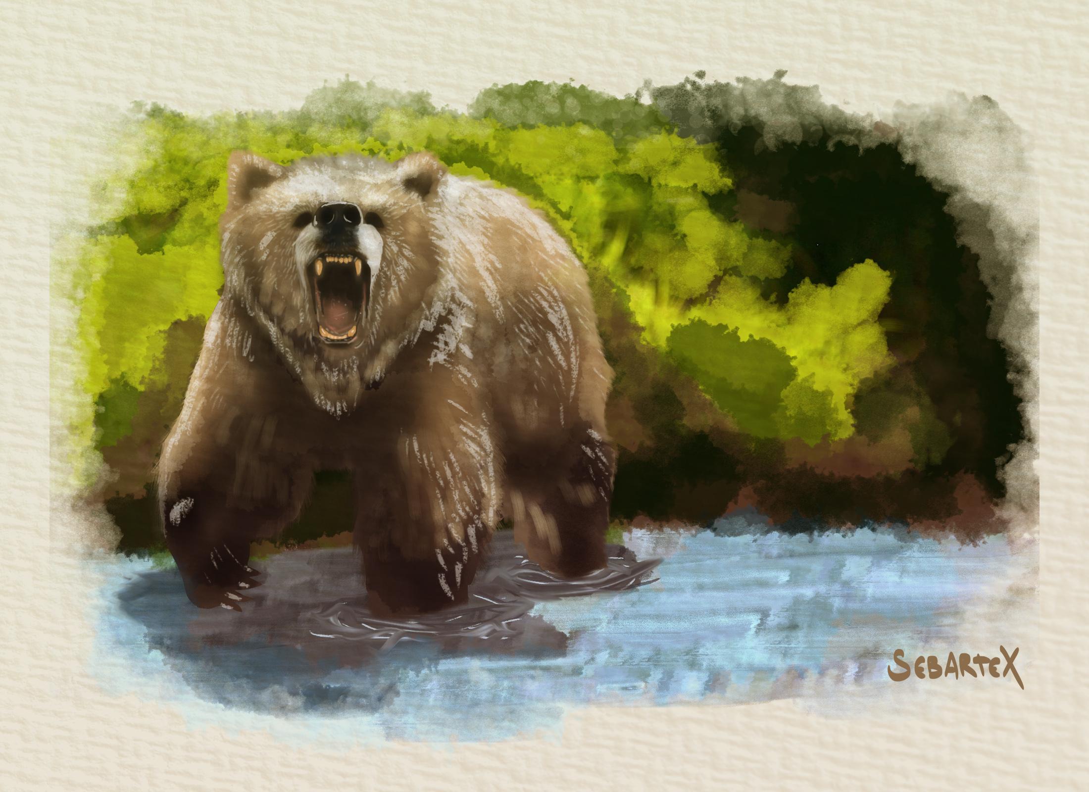 bear paint wallpaper