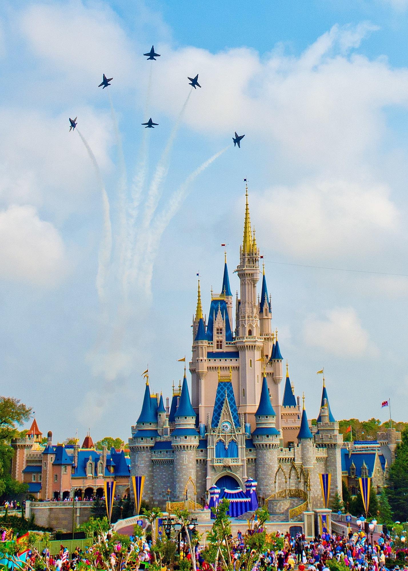 planes over disney castle