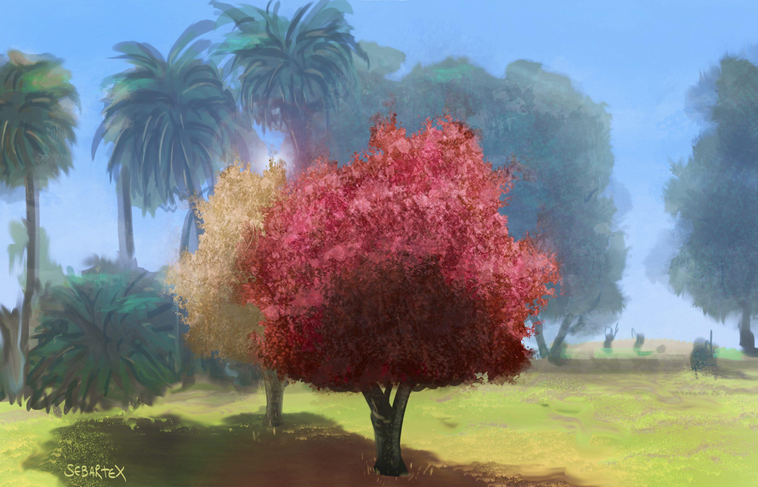 park digital painting