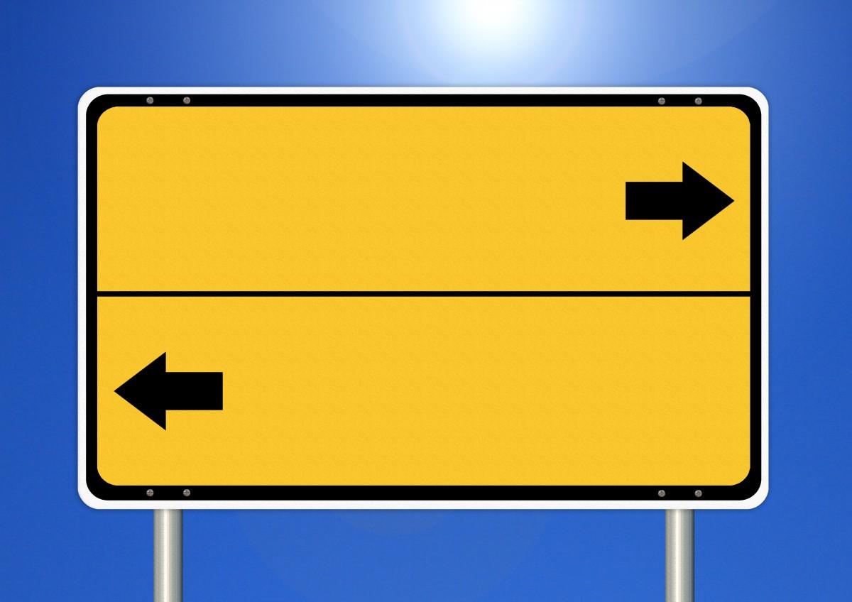 left - right