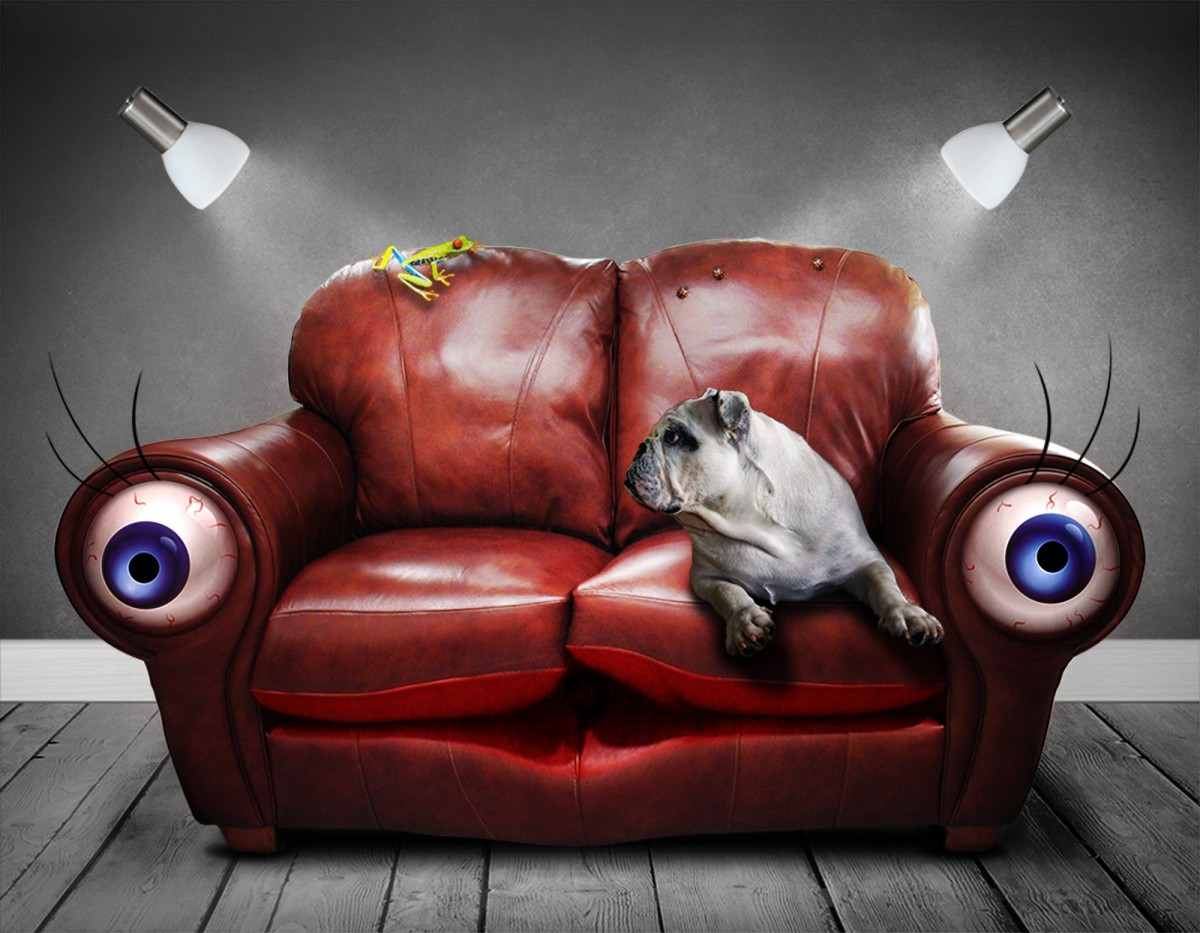 surreal couch