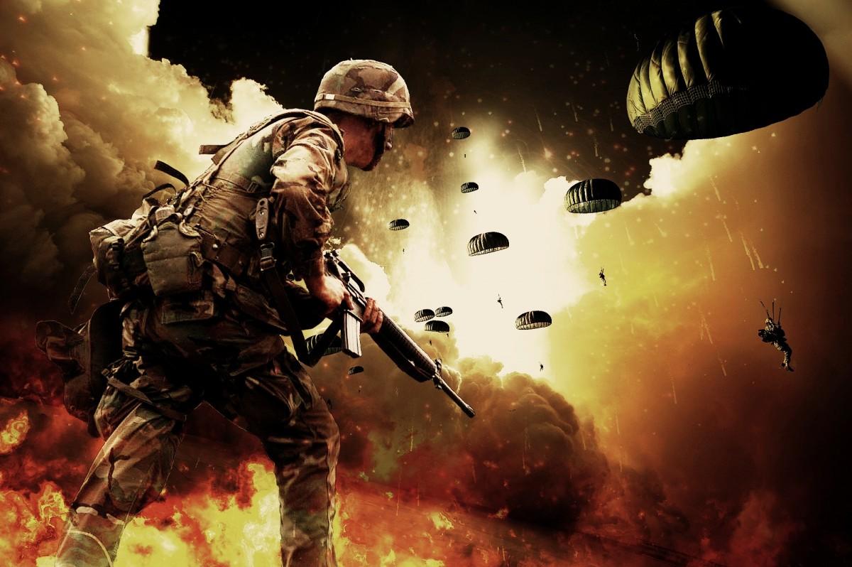 war paratroopers