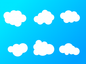 rounded clouds