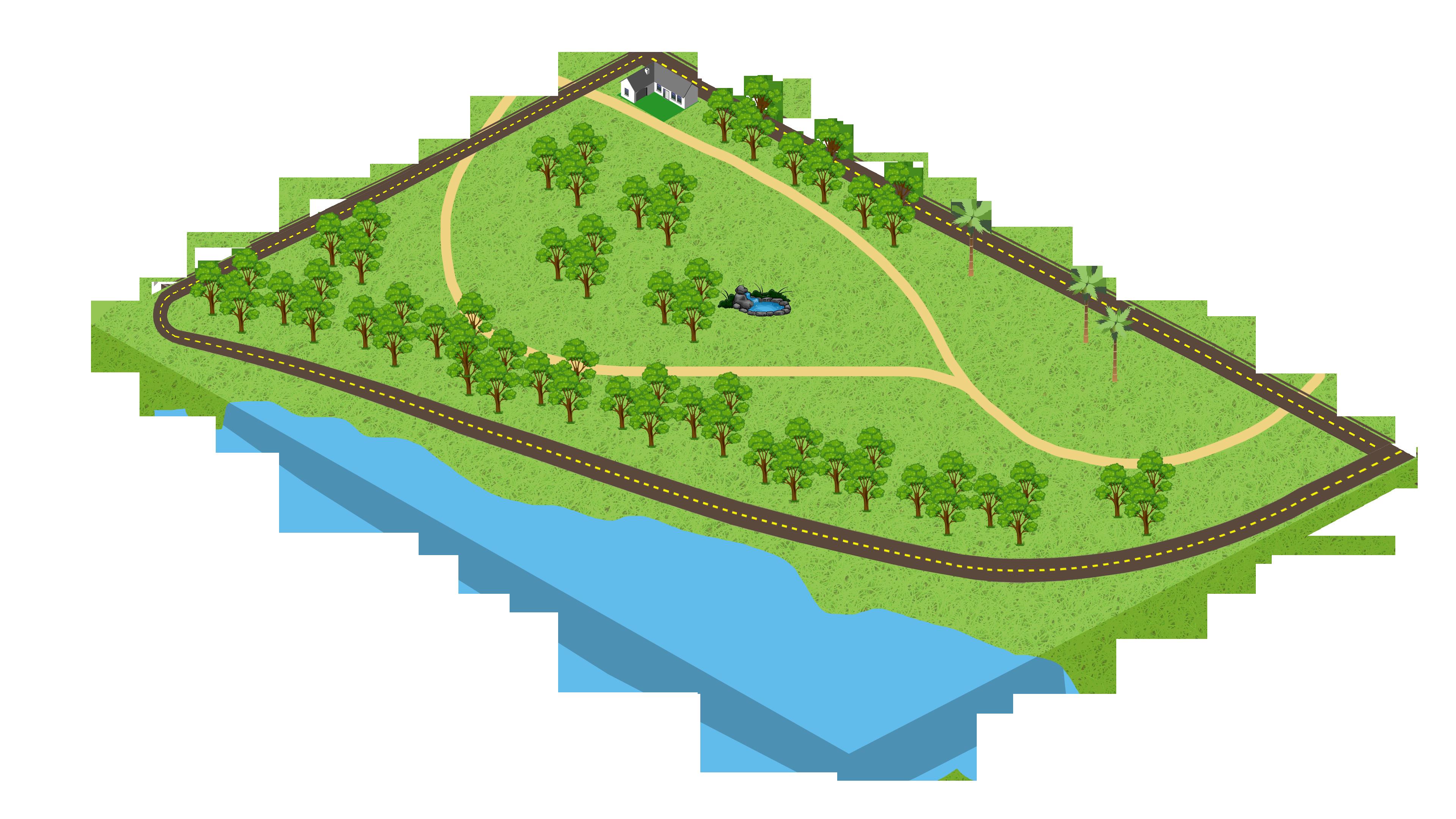 isometric park 3840x2160 - Free image bank