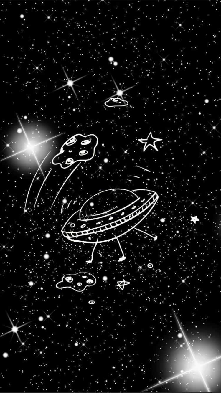 Space ovni ilustration
