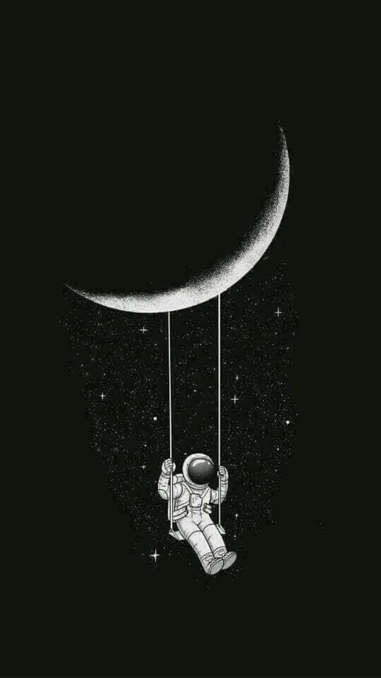 Space wallpaper astronaut phone